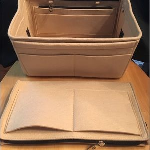 Handbags - Purse L insert zip pockets Protector Organizer MM
